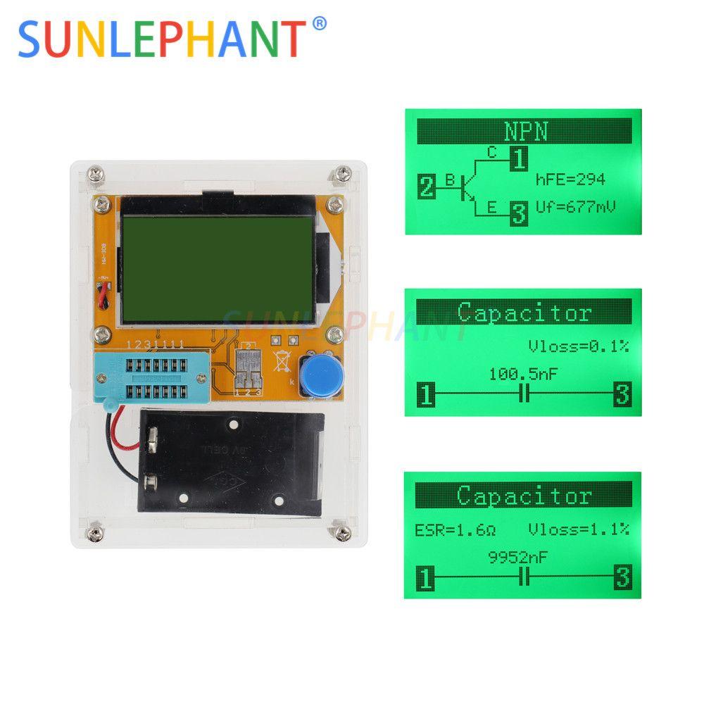 2019 Nouveau LCD 12864 Mega328 Transistor Testeur de Diodes Triode Capacité ESR LCR Mètre + cas (pas La Batterie)