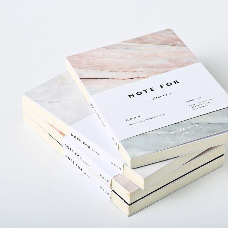 Creative Note pour Silence Cahier Journal Dessin 80 Feuilles Papier Sketchbook Cadeaux Papeterie École Fournitures de Bureau
