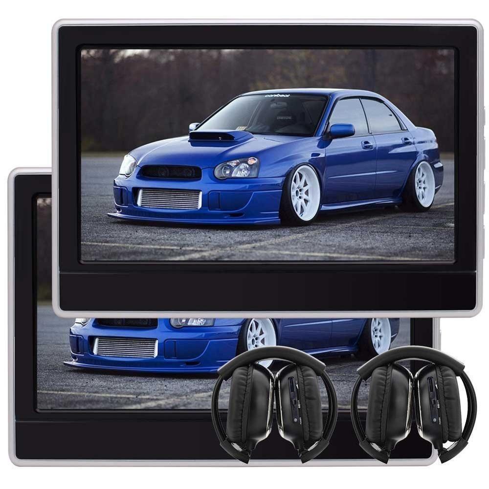 EinCar 11.6'' LCD Screen Car Headrest DVD Gaming Monitor HDMI Port Tablet Seat Headrest Support 32 Bits Game Wireless Headphones