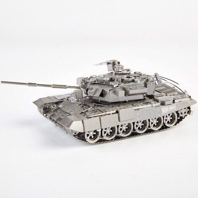 Morceau russie T-90A réservoir bricolage 3d métal Nano Puzzle assembler des Kits de modèle P047-S Laser découpé jouets de Puzzle