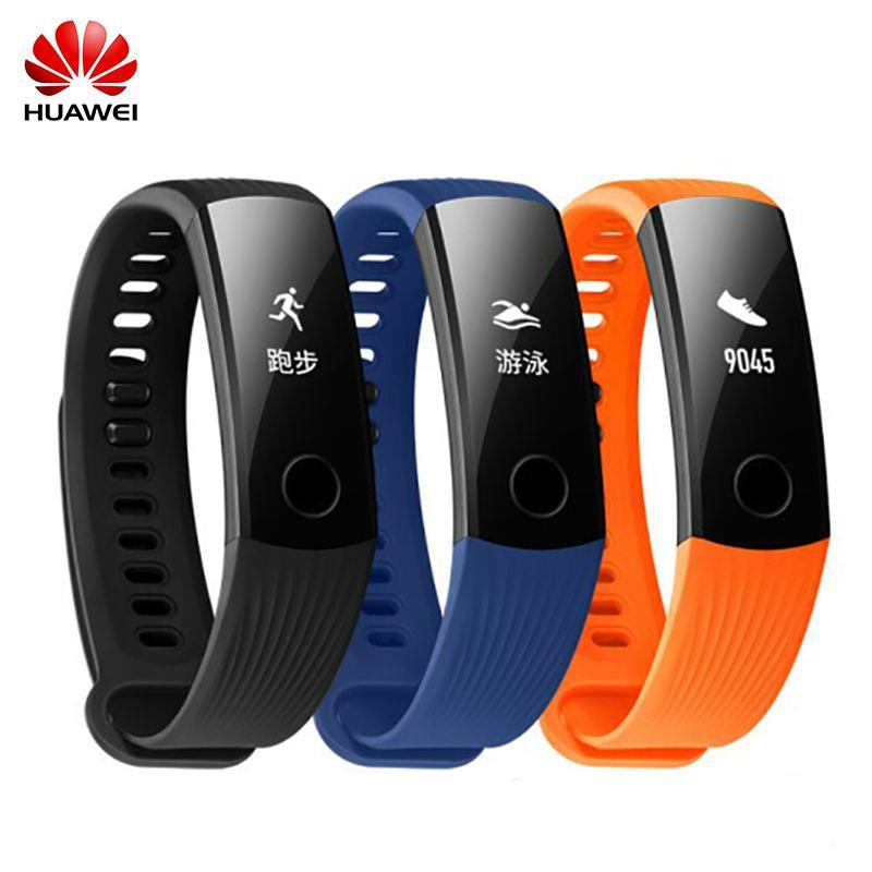 2017 Huawei Honor Wristband 3 Smart Bracelet 3 Sleep Heart Rate Monitor Fitness Tracker 50m Swim Waterproof Bluetooth OLED Band
