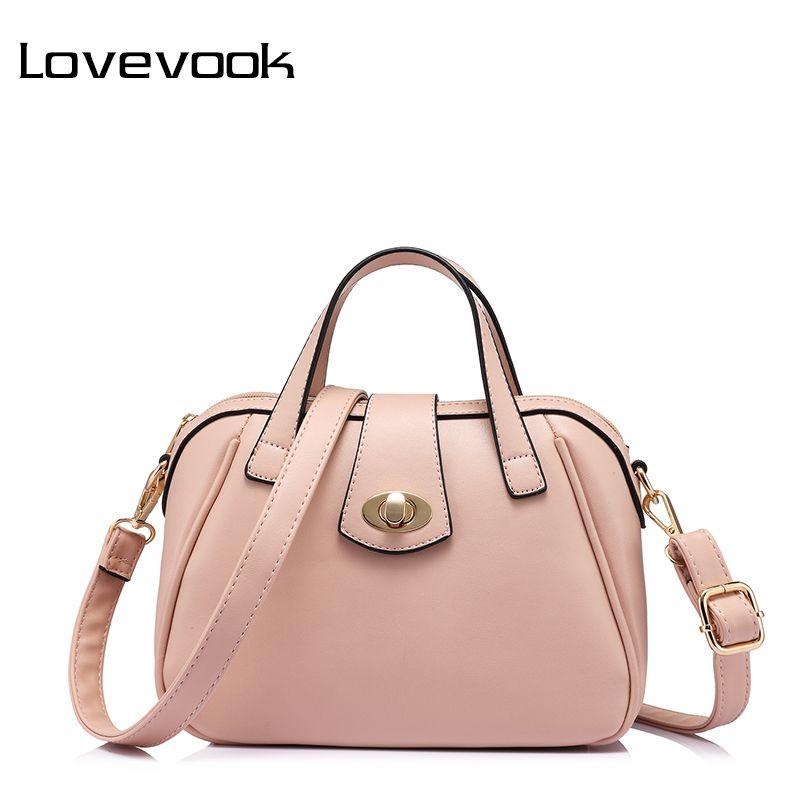 LOVEVOOK brand fashion luxury handbags women bags designer high quality messenger bag female doctor shoulder bag Pink/Blue/Red