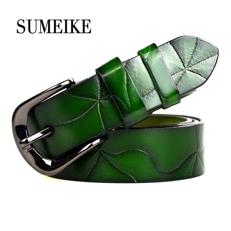 Femmes ceinture femme sangle haute qualité Designer ceinture dames 100% véritable cuir Jeans ceintures pour femmes