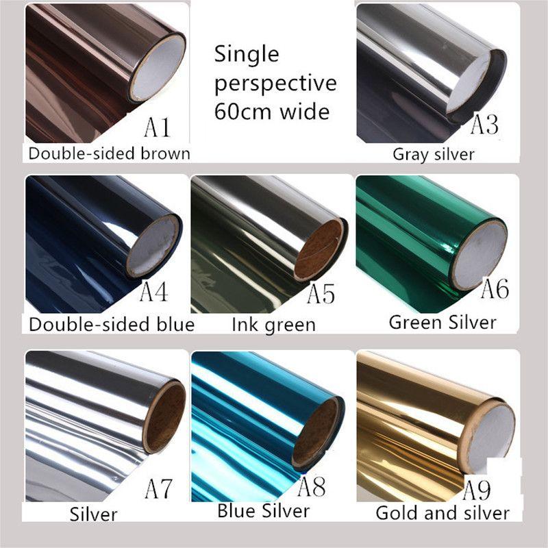 60X200 cm teinte personnalisée balcon fenêtre film isolation thermique anti-éblouissement film unidirectionnel perspective est empêché se prélasser dans le papier