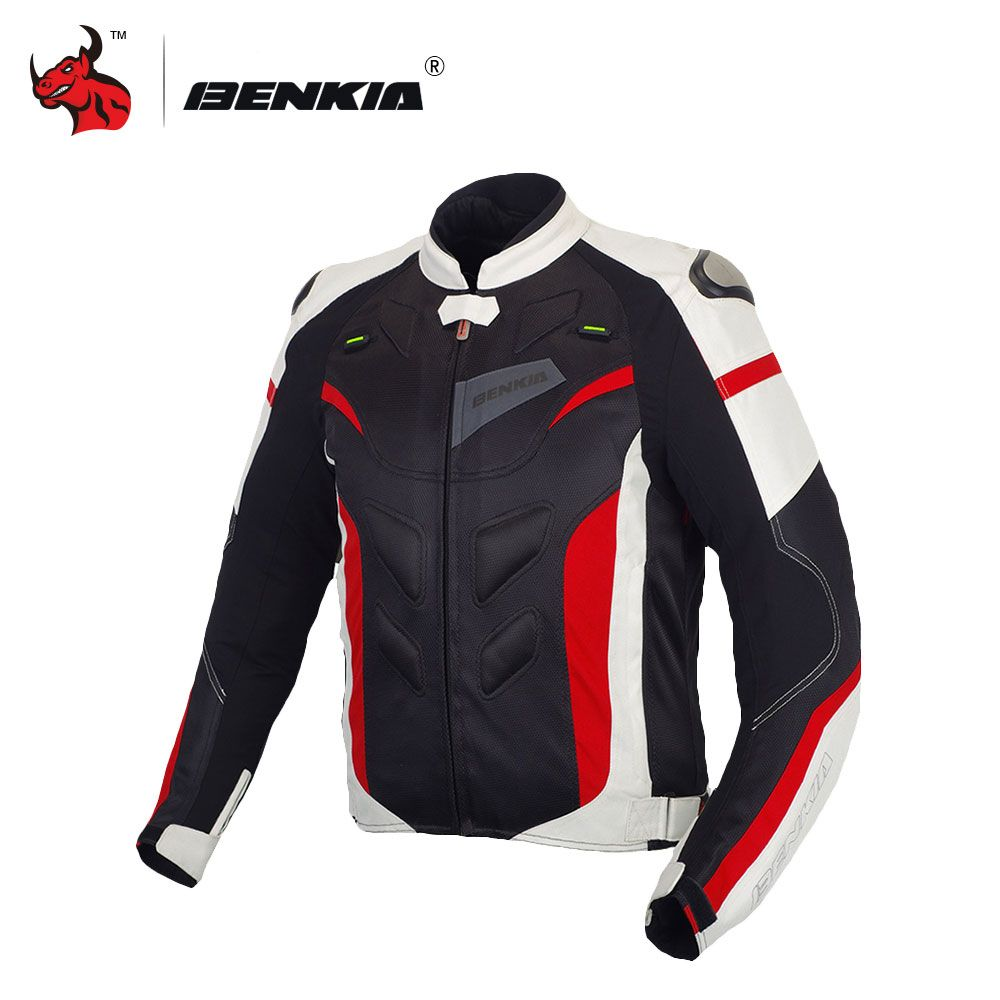 BENKIA Men Motorcycle Jacket Protective Gear Motorcycle Clothing Removable Liner Veste Coat Reflective Racing Riding Moto Jacket