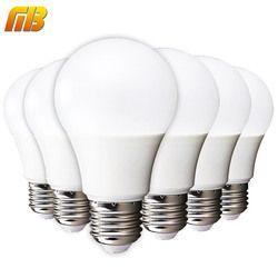 [MingBen] 6 pcs Lâmpada LED E27 E14 3W 5W 7W 9W 12W 15W 18W IC Inteligente Branco Frio Branco Morno Luz de Bulbo 220V E27 Alto Brilho