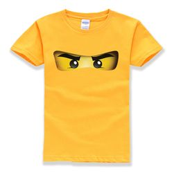 2018 hot sale ninjago cartoon pattern 100% cotton O-neck short sleeve t-shirts baby boys clothing high quality summer t-shirts
