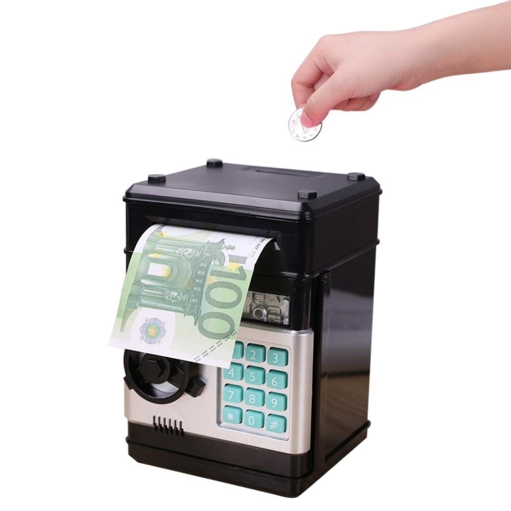 Automatic Piggy Bank ATM Password Money Box Cash Coins Saving Box ATM Bank Box Electronic Deposit Christmas Gift for Kids