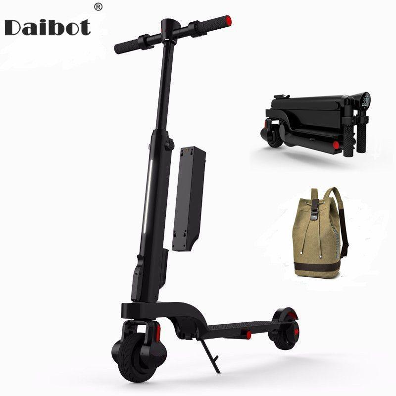 Daibot X6 Elektrische Tretroller Zwei Rad Elektro-scooter Stoßdämpfer/Suspension Tragbare E-roller 24 V Für erwachsene