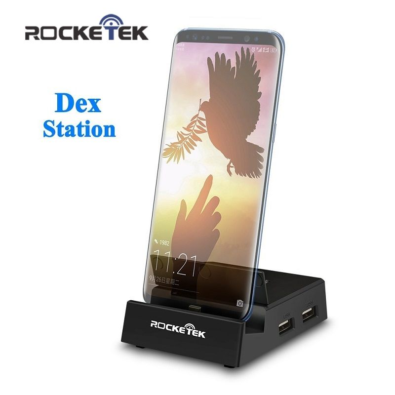 Rocketek USB 3.1 Type C Adapter HDMI Multi-port Docking Station for Samsung S8/Note8/Hawei Mate10 for replacing the Original Dex
