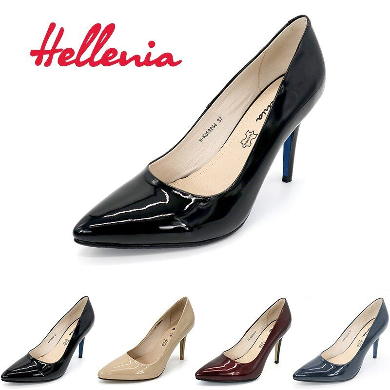Hellenia Pumps women shoes High Heels Point Toe Ladies Office Lady Pump Party wedding Shoes shallow PU Leather women pumps