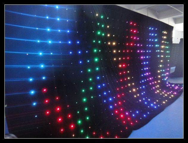 Flyko stage customized size led P180MM 3M BY 5M dJ stage booth show led dj backdrop