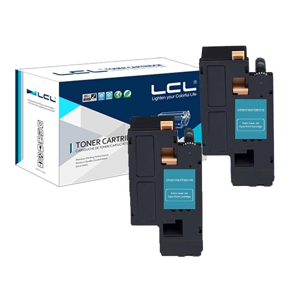 LCL CT201633 CT 201633 (2-pack) Cyan 3000 pages Laser Toner Cartridge Compatible for Fuji Xerox DP-CM305DF/DP-CP305D