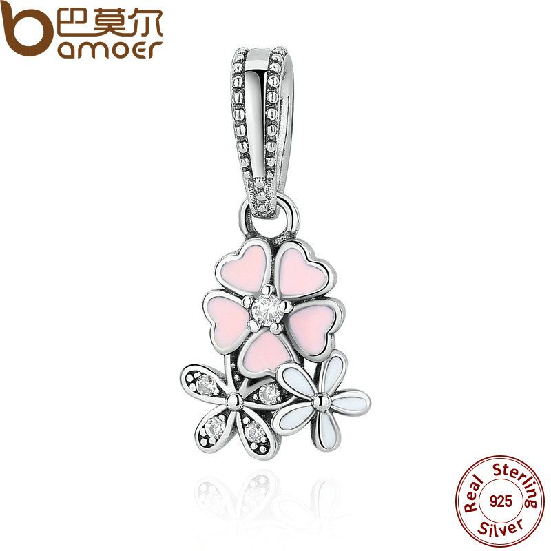 925 Sterling Silver Jewelry Poetic Blooms, Mixed Enamels & Clear CZ Charms Fit  Bracelet Bangle Fine Jewelry PAS281