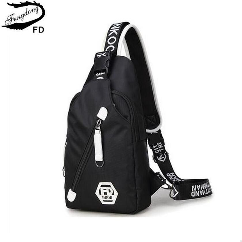 FengDong sacs à bandoulière pour hommes femmes sacs de voyage sac de poitrine décontracté Pack imperméable à l'eau unique bandoulière sac à bandoulière