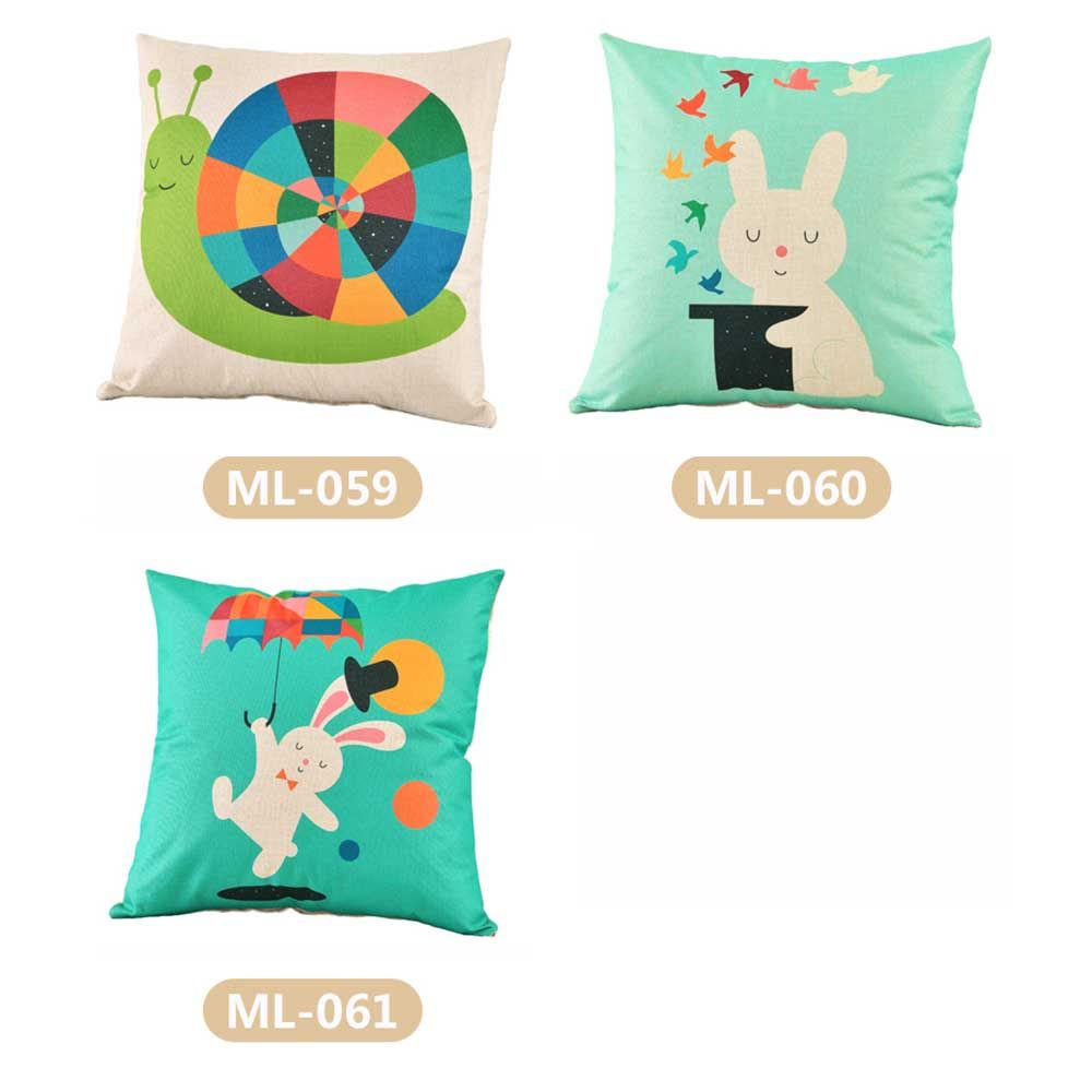 Home Bedding Cushion Cover Cartoon Pattern Printed Pillow Cover Decorative Pillow Case Sofa Seat Pillowcase Soft