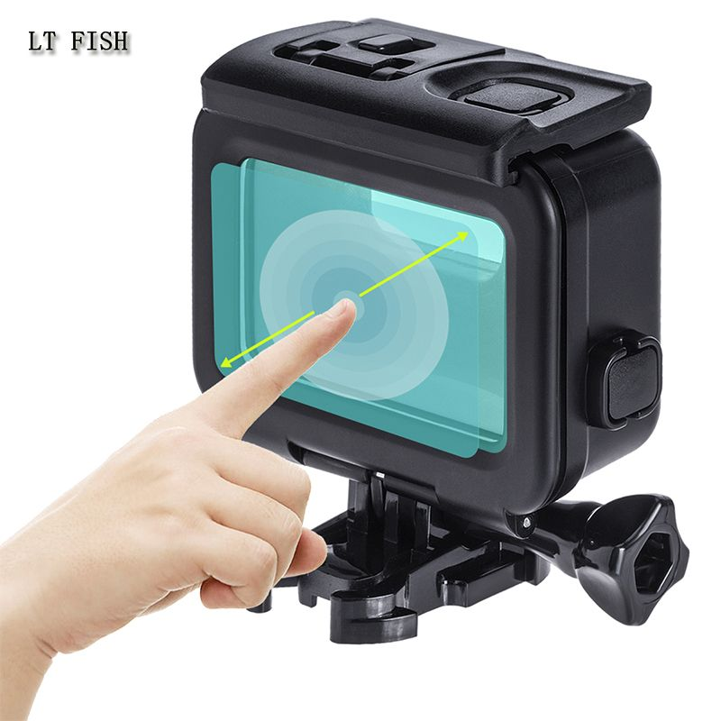 LT FISH for Gopro hero Waterproof Case gopro hero 5 series 6 series 7 Black version housing 45M diving With touch back cover