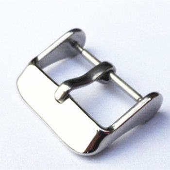 Wholesale 100pcs/lot watch buckle 304 Stainless steel watch buckle smooth polish with spring bar 14MM 16MM 18MM 20MM 22MM