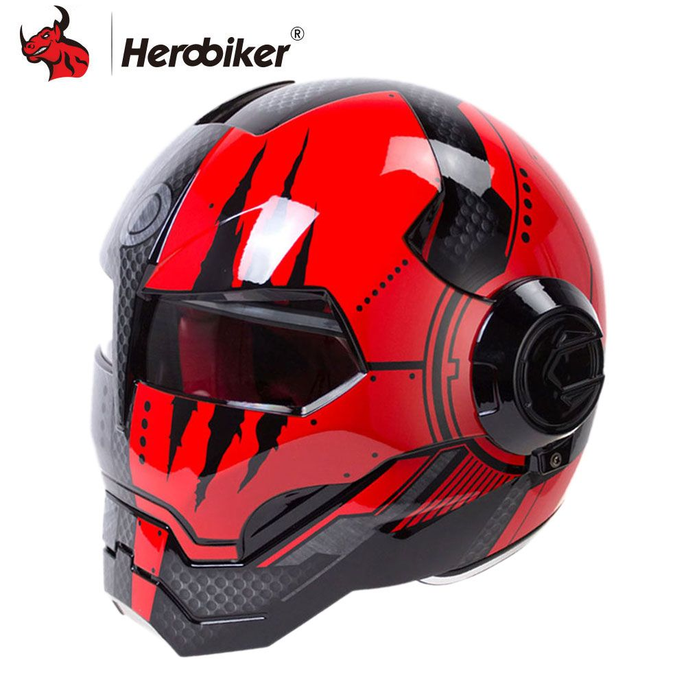 HEROBIKER Motorcycle Helmet Men Moto Helmet Motorbike Capacetes Casco Retro Casque Moto Riding Helmet Casque Motocross