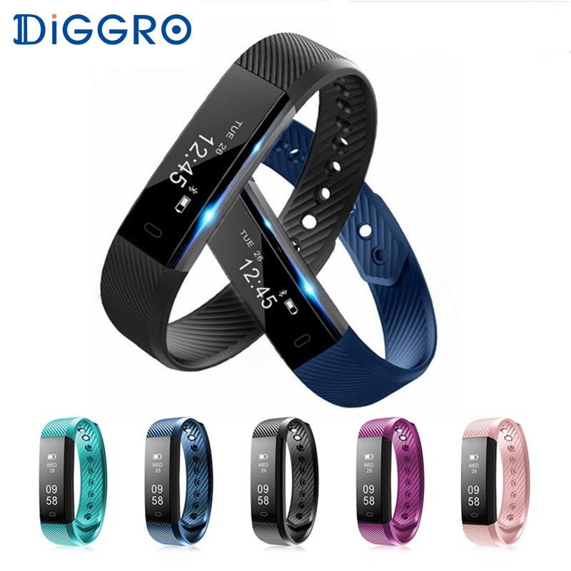 ID115 HR Diggro Smart Bracelet Heart Rate Monitor Activity Tracker Waterproof Wristbands For IOS Android