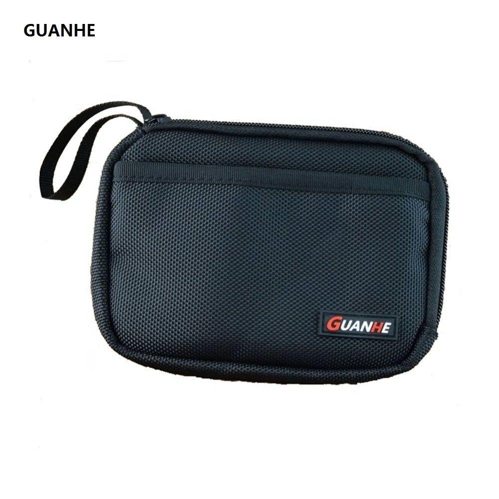 GUANHE disque Dur sac double Couche Câble Organisateur Sac Carry Case HDD USB Flash Drive disque dur sac