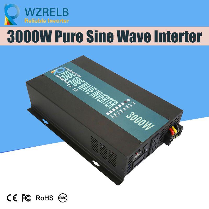 Zuverlässige Off-grid inverter 3000w hochfrequenz inverter mit reinem sinus ausgang und lade funktion