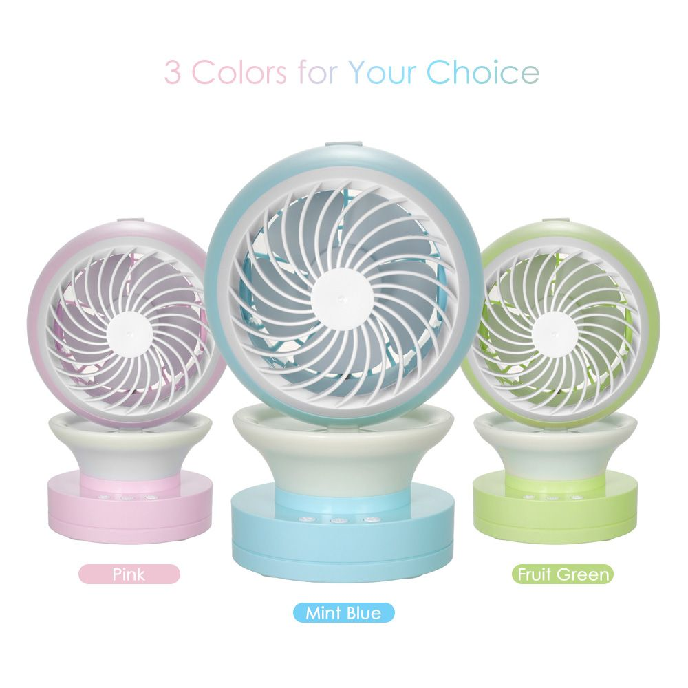 Mini USB Desk Fan Misting Fan 2-speed Fan with Mist Spraying Function Air Conditioning Moisturizing Fan Humidifier for office