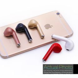 for iPhone 7 plus 7 6 6s 5 5s X Samsung S8 Plus Xiaomi Smartphone Wireless Earphone Bluetooth Headset I7 In-Ear Invisible Earbud
