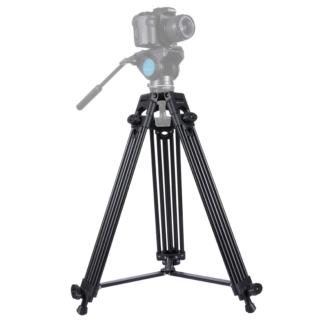 PULUZ Professional Heavy Duty Tripod Video Camera Camcorder Tripod Monopod Aluminum Alloy Tripod for Canon Sony DSLR SLR Camera