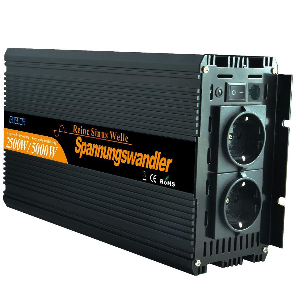 Reine sinus-wechselrichter 2500 Watt DC12V zu WECHSELSTROM 220 V für haushaltsgeräte-Neue fernbedienung