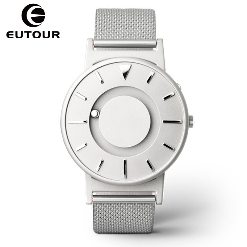 Eutour luxury Brand Fashion Men watches creative Sport Magnetic Stainless Steel Strap watch military quartz WristWatches Clock