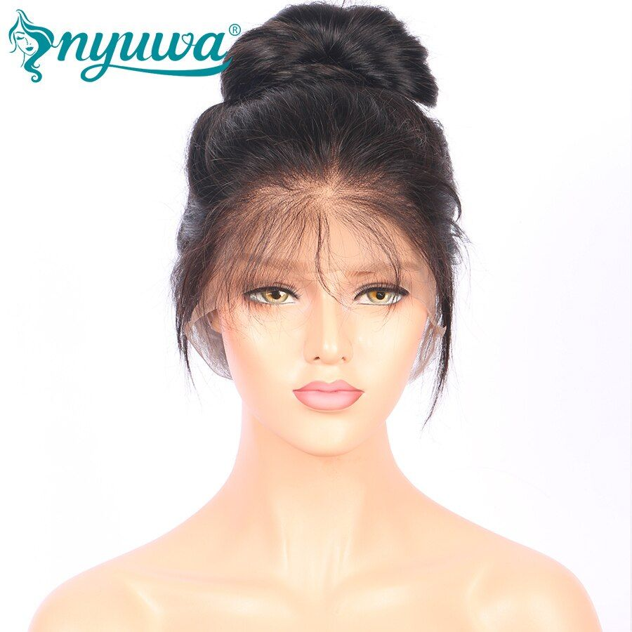 250% Density 360 Lace Frontal Wigs With Baby Hair Straight Brazilian Remy Hair Pre Plucked 100% Human Hair Wig NYUWA Hair