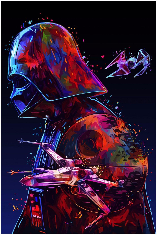 Decoración para el hogar cartel de Darth Vader de Star Wars 24 pulgadas x 36 pulgadas