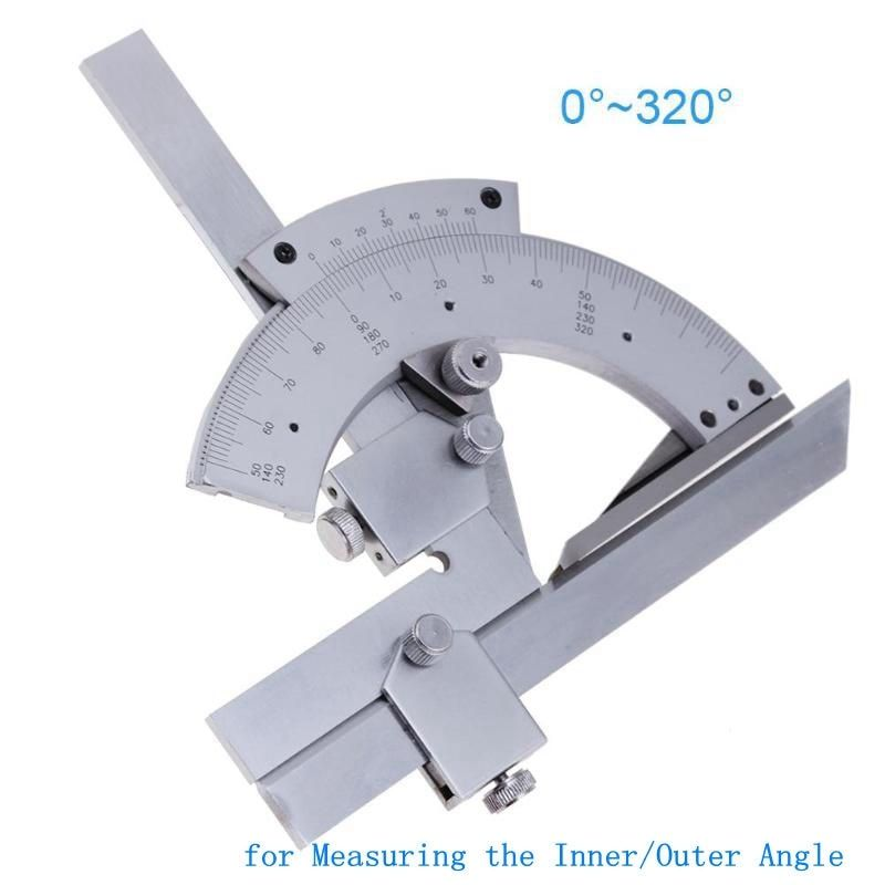0-320 Degree Universal Protractor Carbon Steel Goniometer Angle Ruler Finder Measuring Tools for Measuring Inner/Outer Angle