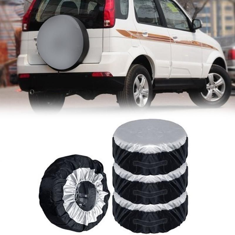 4pcs Spare Tire Cover Case Seasonal Wheel Tire Storage Bag Automobile Tyre Accessories Vehicle Wheel Protector Covers For 13-20