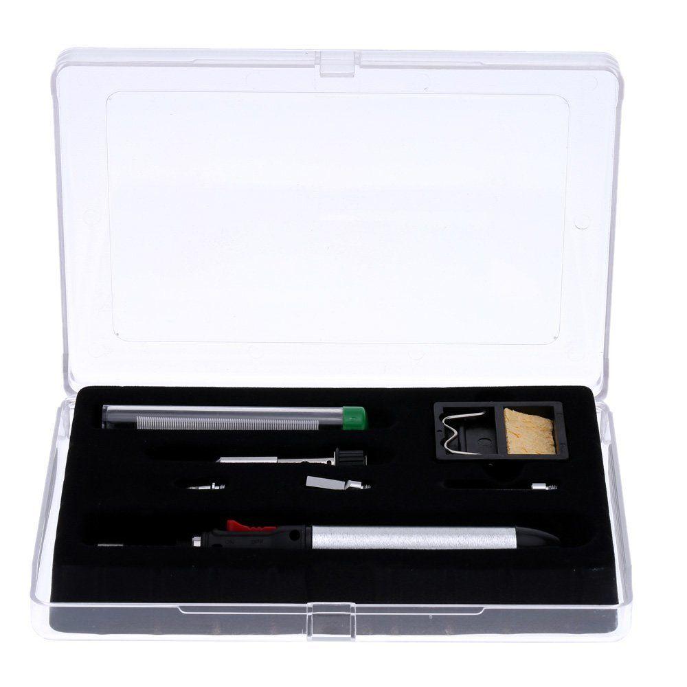 Neue 12 ml Gas Löten Eisen 7-in-1 Cordless Schweißen Taschenlampe Kit Reparatur Werkzeuge HT-1934K