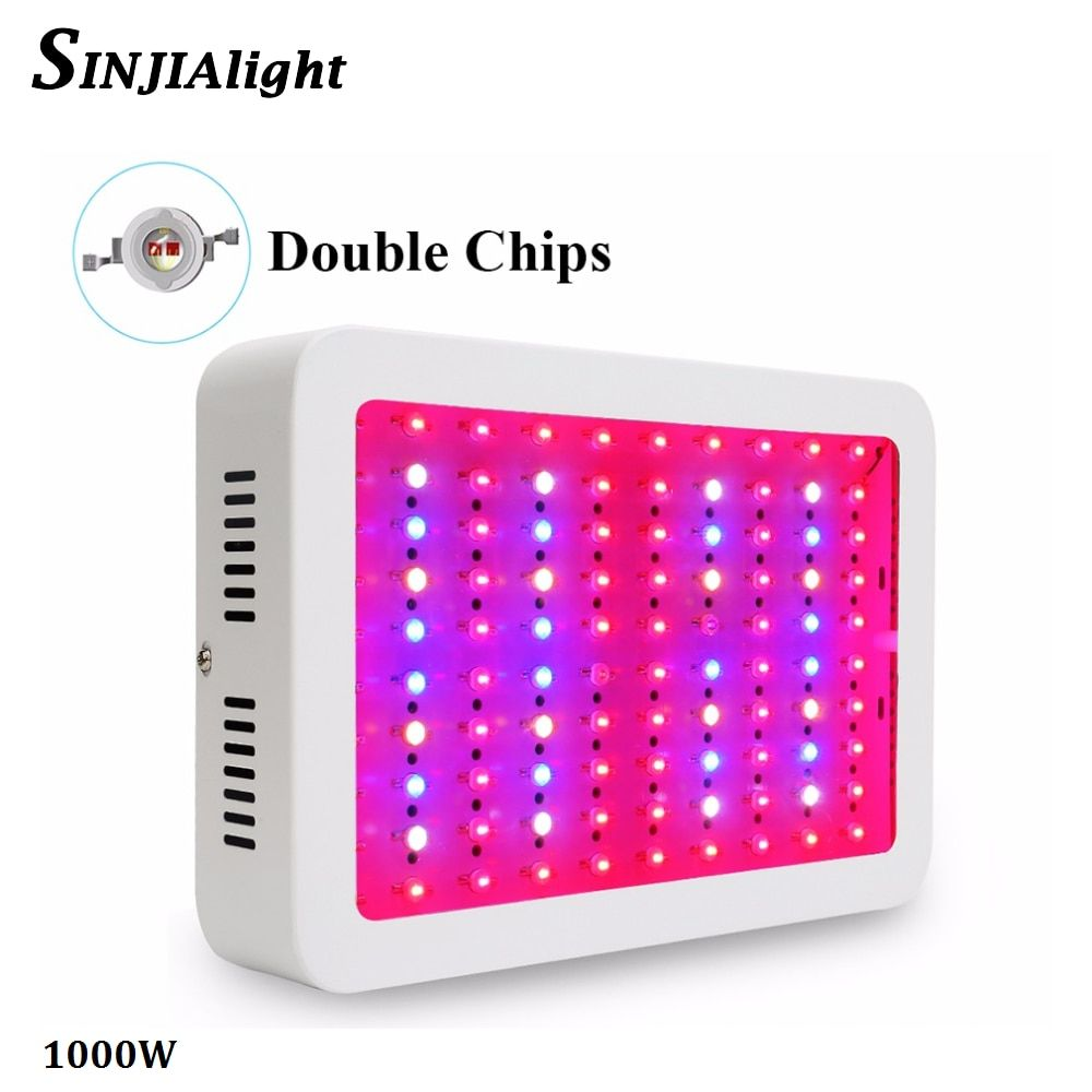 1000W Full Spectrum LED Grow Light Double Chips Growth Lamp Red+Blue+White+IR+UV for greenhouse grow tent hydroponics plants