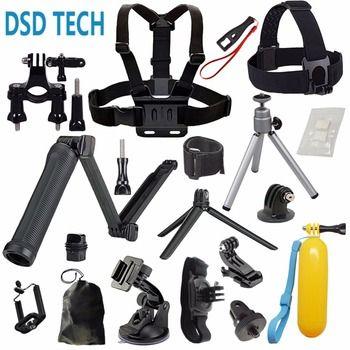 DSD TECH for GoPro 3-way grip arm stick chesty gopro mount kit for hero6 5 4 3 2 session black sjcam sj4000 m20 xiaomi yi 4k 08D