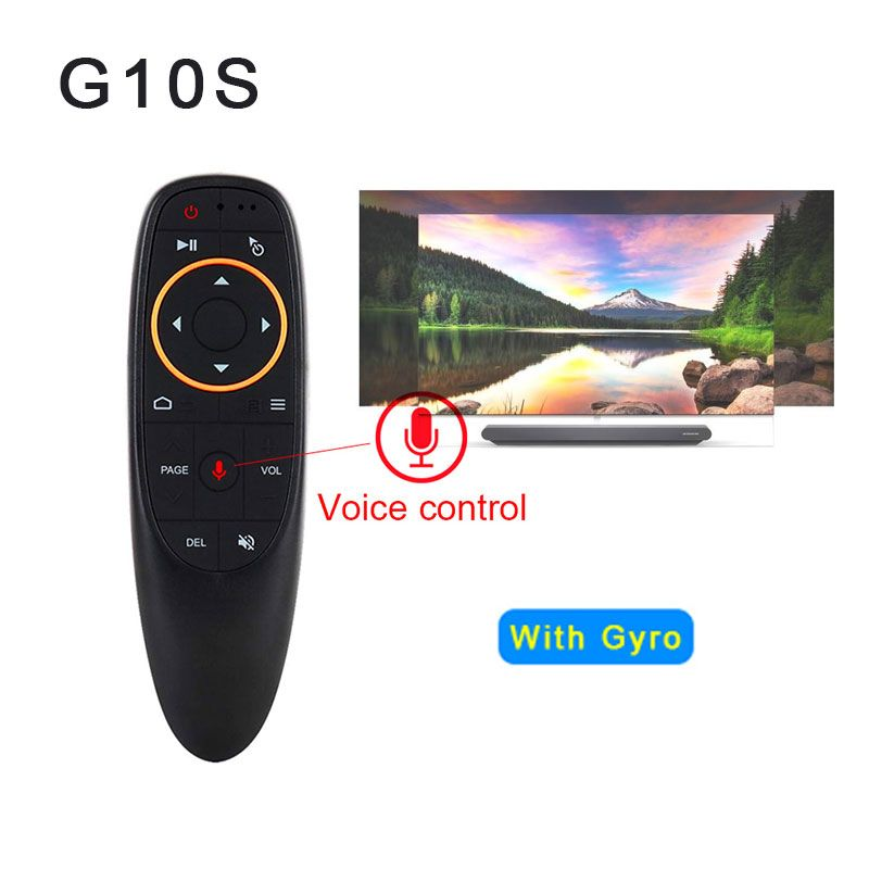 G10 Air Mouse Voice Control 2.4GHz Wireless With Gyro Sensing Game Voice control Smart Remote Control for Android TV BOX