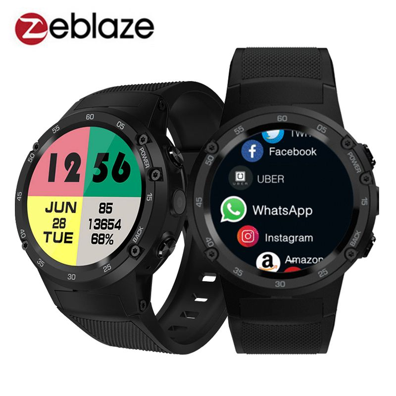 Zeblaze Thor 4 4G S LTE GPS WiFi Android Smart Watch Flapship 1GB+16GB 5MP Camera Fitness Tracker Smartwatch Wristwatch