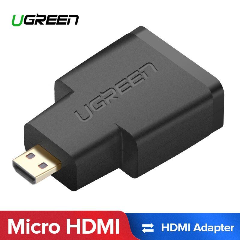 UGREEN Micro HDMI zu HDMI Adapter Vergoldete Stecker Unterstützung 3D 2 karat Video für GoPro HERO6 Kamera Blackberry Z30 smart Telefon