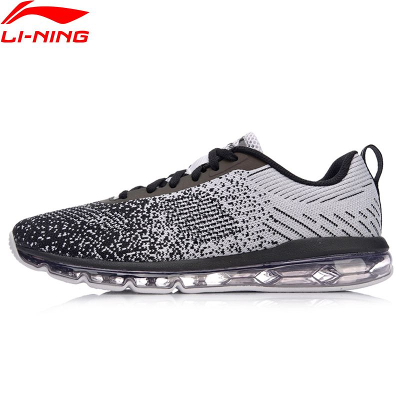 Li-Ning Men Bubble Max Classic Walking Shoes Cushion Sneakers LiNing Breathable Comfort Fitness Sport Shoes AGCN075 YXB134