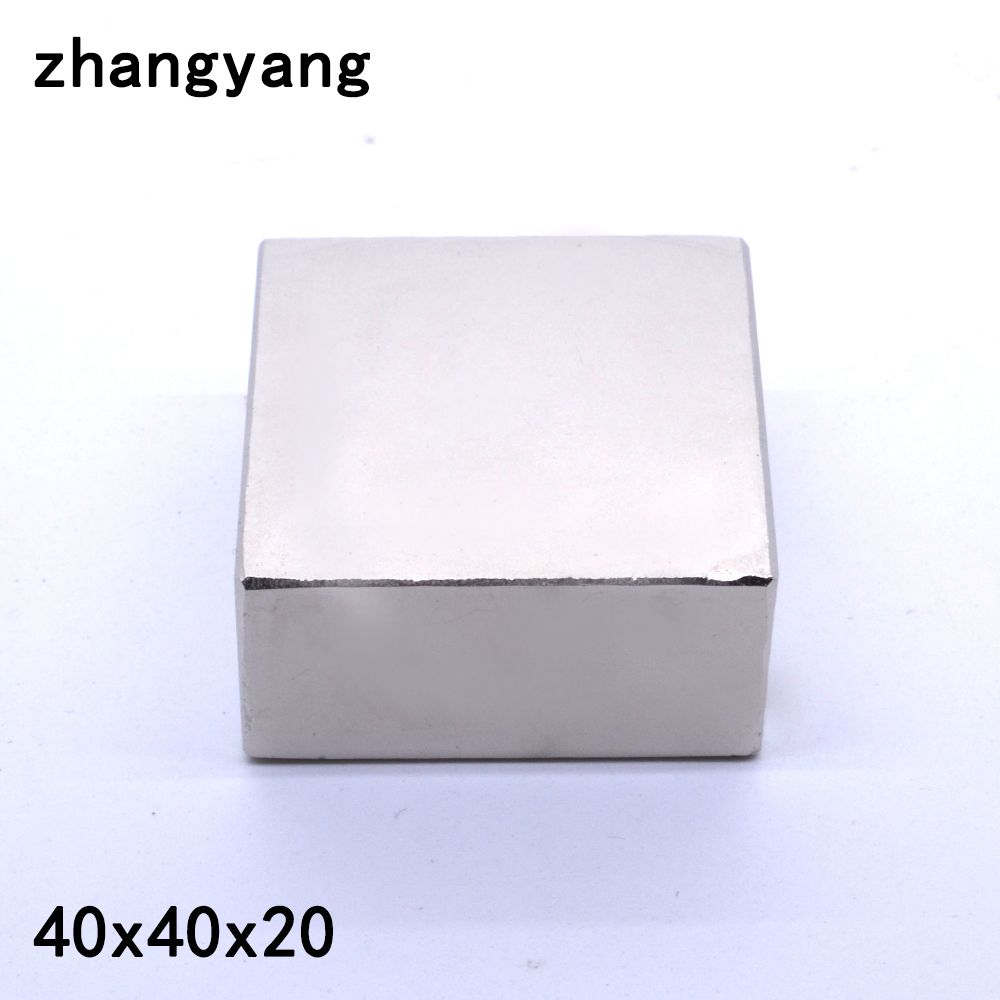 1pcs 40*40*20 Strong Rare Earth Neodymium Magnets 40X40X20 mm Block Permanent Magnet 40x40x20mm metal