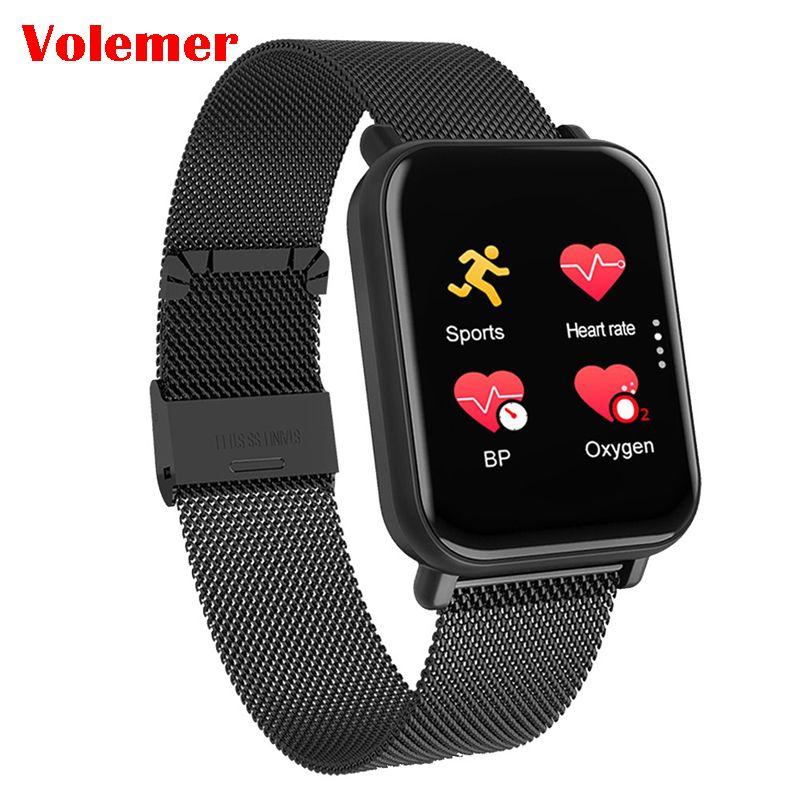 Volemer R6 montre intelligente moniteur de fréquence cardiaque Tracker Fitness Smartwatch rappel d'appel Message Push musique contrôle étanche horloge