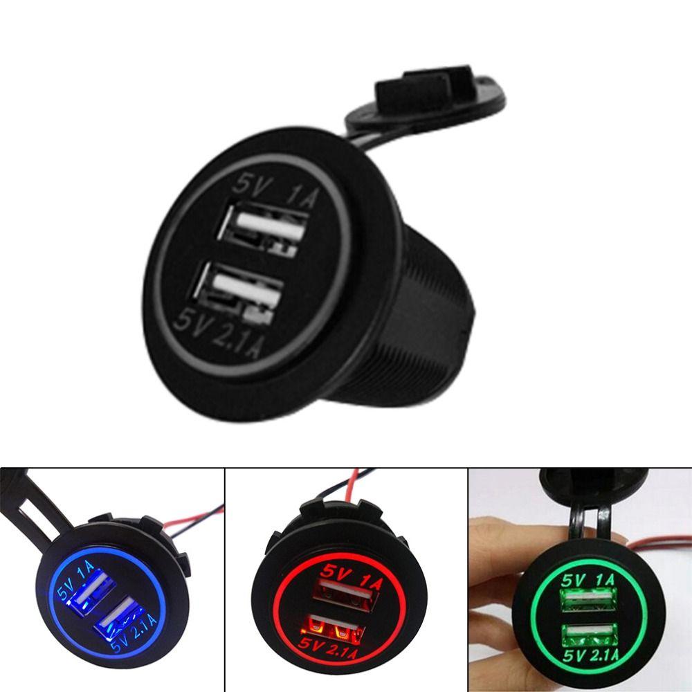 Newest good quality 12V-24V 2.0A  Cigarette Lighter Socket Splitter 2 Port USB Car Charger Adaptor hot