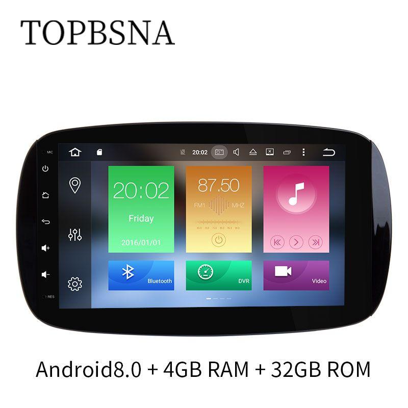 TOPBSNA 9 Inch Car Multmedia DVD player For Mercedes/Benz/SMART 2016 GPS Navigation Radio video Mirror-link Bluetooth WIFI OBD