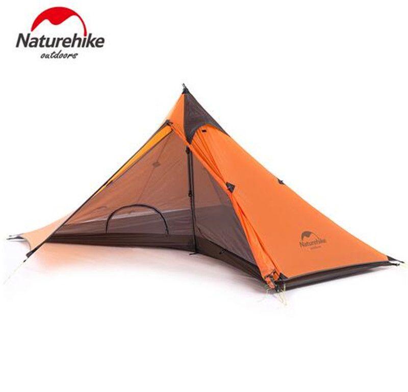 Naturehike 1 Personen Zelt 20D Nylon 4 Saison Rucksack Zelt Ultraleicht Wandern Trekking Zelte Für Outdoor-sportarten Reise