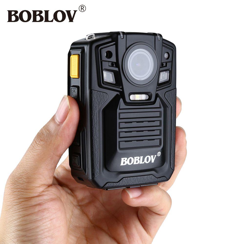 Boblov HD66-02 Ambarella A7L50 1296P HD Mini Camera 140 Degree Angel Body Police Camera Night Vision Remote Control Camcorders