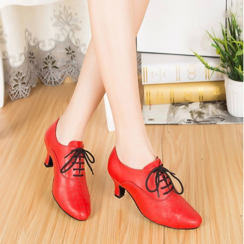 Promotion! 2018 Popuplar High Quality Latin Dance Shoes for Women/Ladies/Girls/Tango&Salsa Red/Black salsa shoes ladies 6397