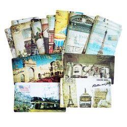20 Pcs/pack Vintage Romantique Carte Postale Classique Paris Carte Ensemble Mémoire Cartes Postales Peut Être Envoyé De Voeux Carte Bureau et D'école Supplie